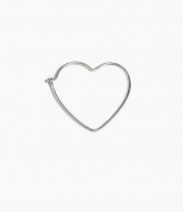 heart hoop silver 20 mm fashionology