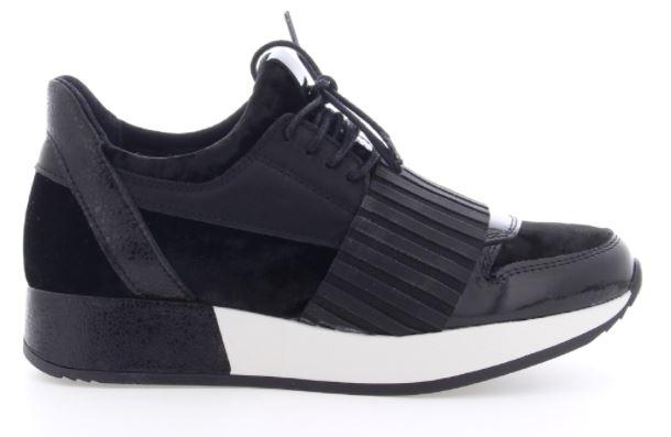 66004 m bx 1161 patent velvet metallic sneaker black for 66004