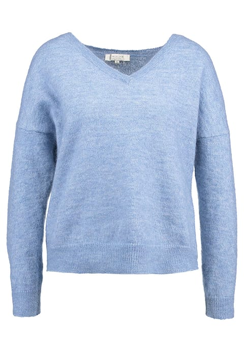 Livana Knit V-Neck Faded Denim - Selected Femme