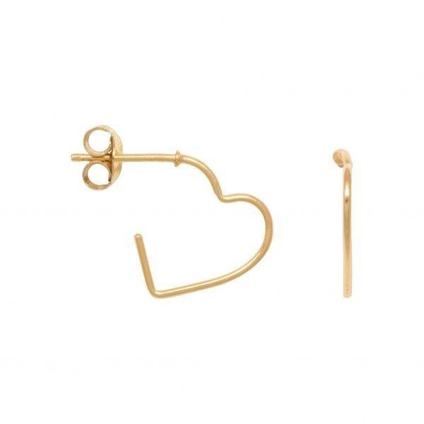 Eline Rosina - Open heart earrings