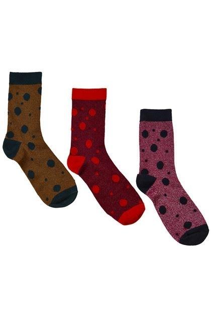 Nümph - Flanna 3-Pack Glitter Socks