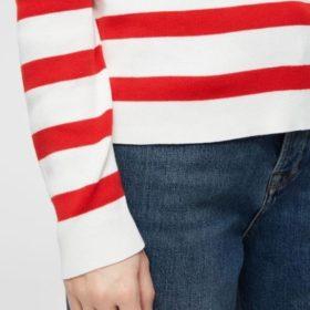 Selected Femme - Alina Stripe LS Knit O-Neck NOOS