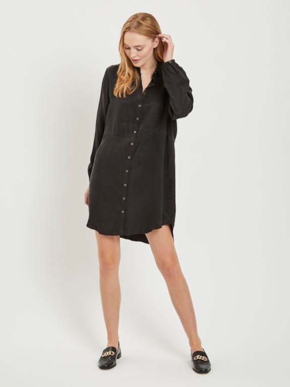 Vila - Viraf L/S Shirt Dress