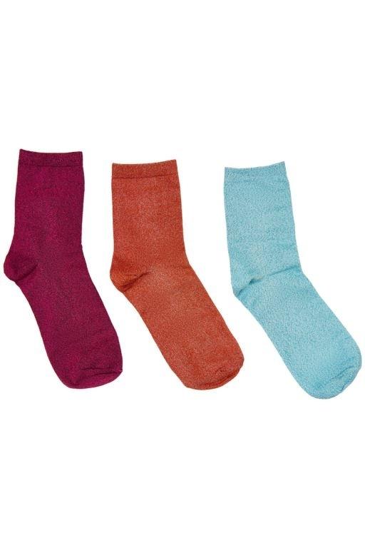 Nümph - Kingcity 3-pack Glitter Socks