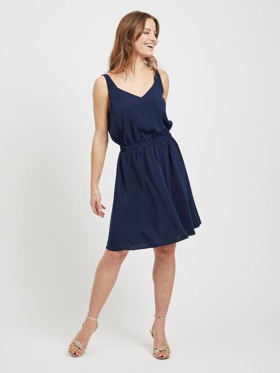 Vilaia S/L V-Neck Dress NOOS