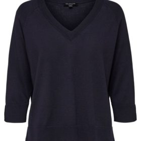 Thea 3/4 Knit V-Neck