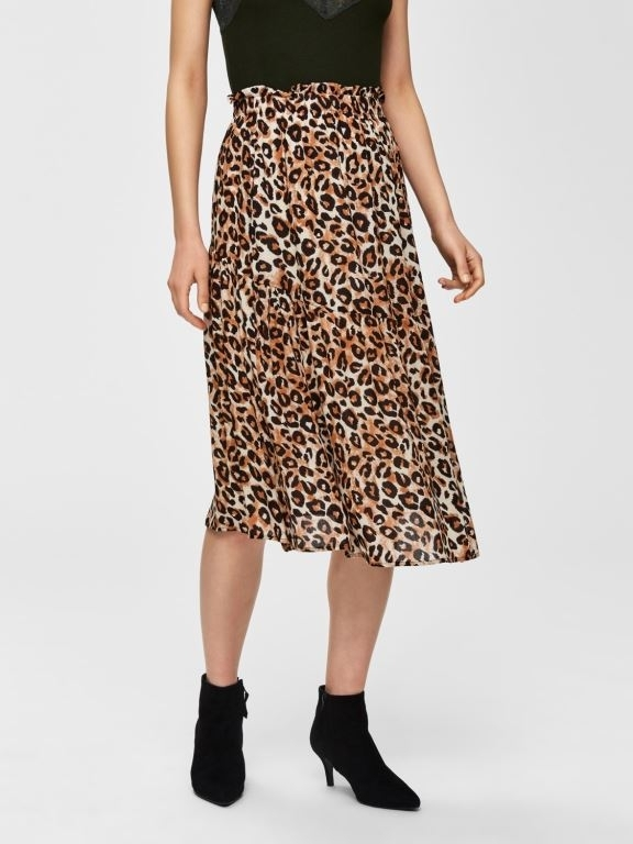 Leoni HW Midi Skirt