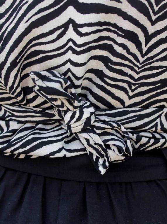 Zizzy Zebra Wrap Shirt