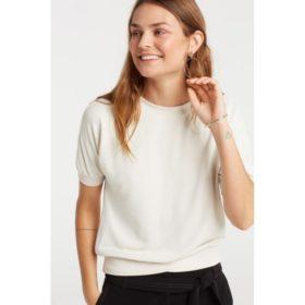 Sweatshirt with short sleeves