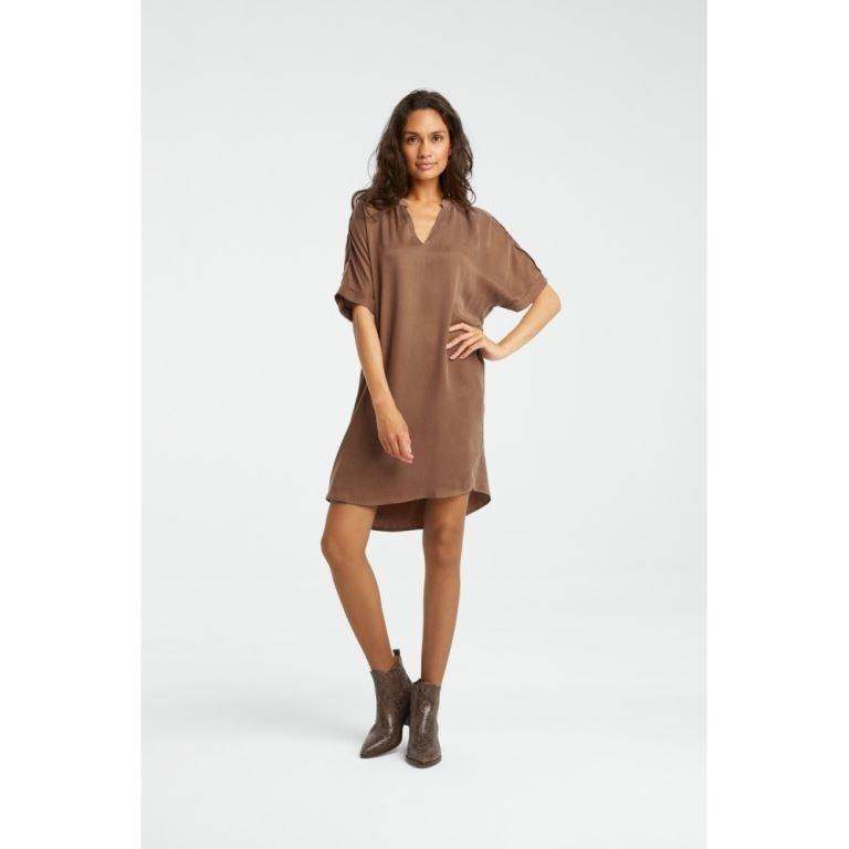 Cupro blend dress