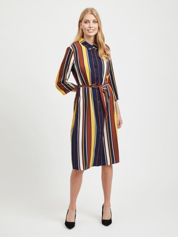 Vimatti Stripe Shirt Dress
