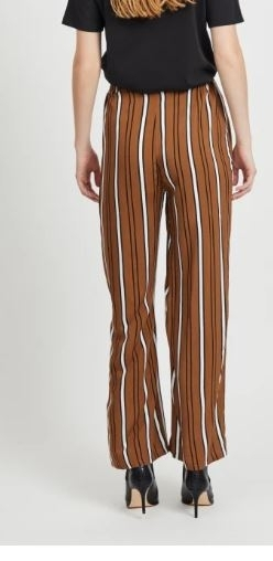 Villacoola Stribe HW Flared Pants