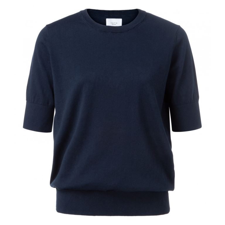 Cotton Sweater with short Sleeves