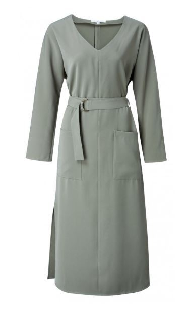 Belted Dress With Pockets