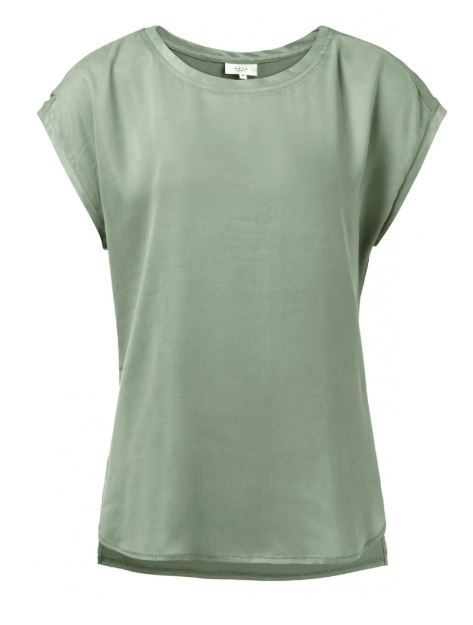 Fabric Mix T-shirtWith Round Hems