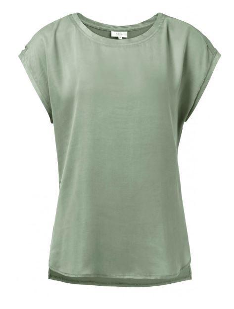 Fabric Mix T-shirtWith Round Hems