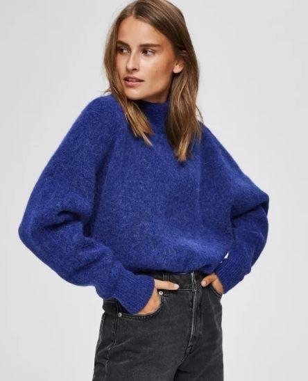 Selected Femme Aura LS Knit Highneck