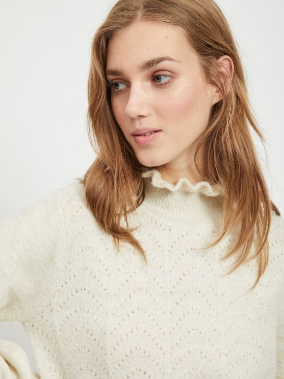 Vijiana knit high neck top