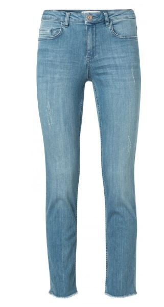 Yaya Straight Jeans with frayed Trims