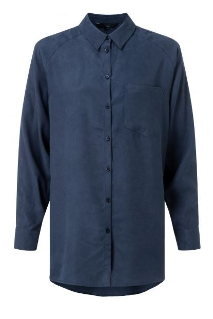 Yaya Lyocell Shirt with Herringbone Pattern