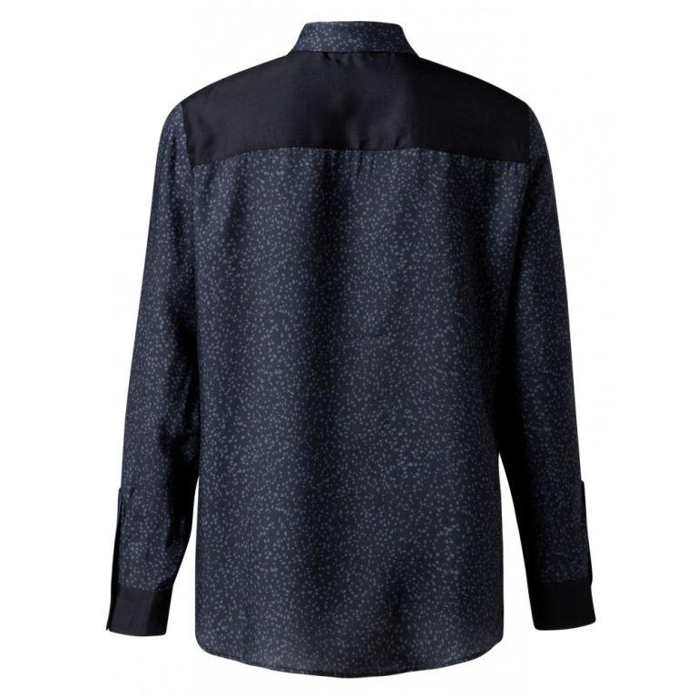 Silk Shirt With Dot Prints