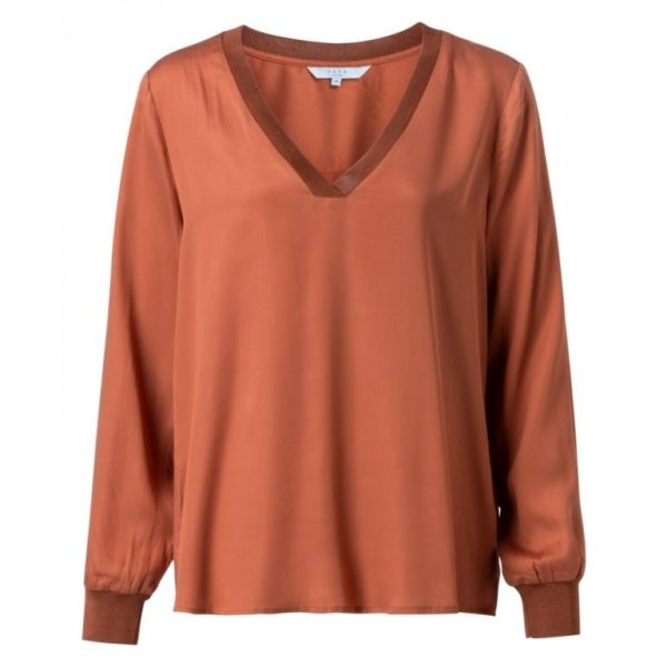 Lyocell V-Neck Blouse