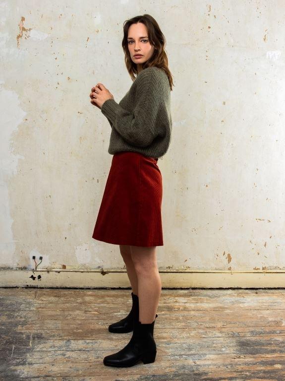 Jane rib skirt