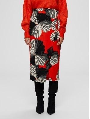 kairi MW midi Wrap Skirt