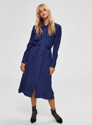 Myla-Florenta Ls Midi Dress