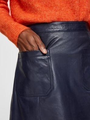 Sofia hw leather skirt