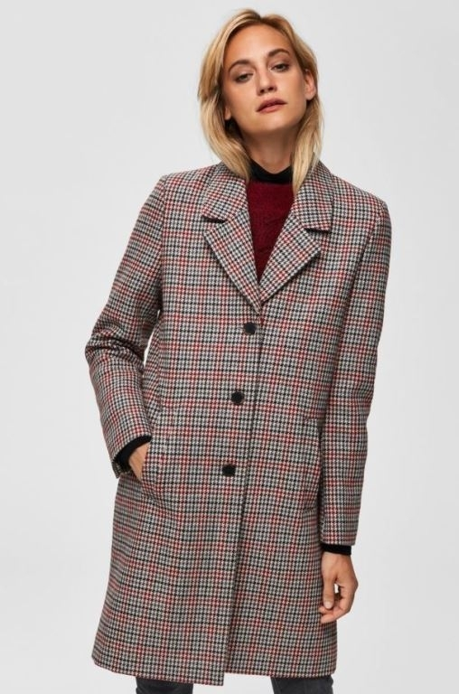 Sasja Check Wool Coat