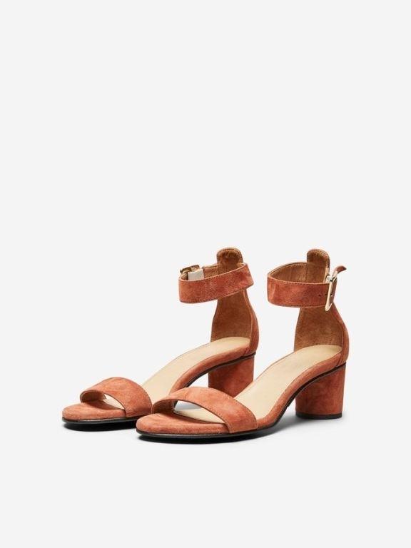 Merle Suede Round Heel Sandal