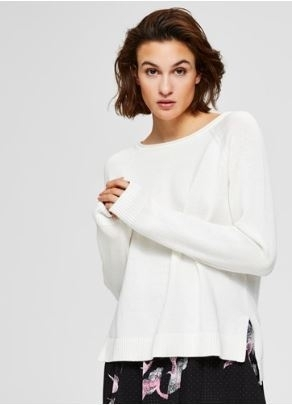 Albi ls knit wide o neck
