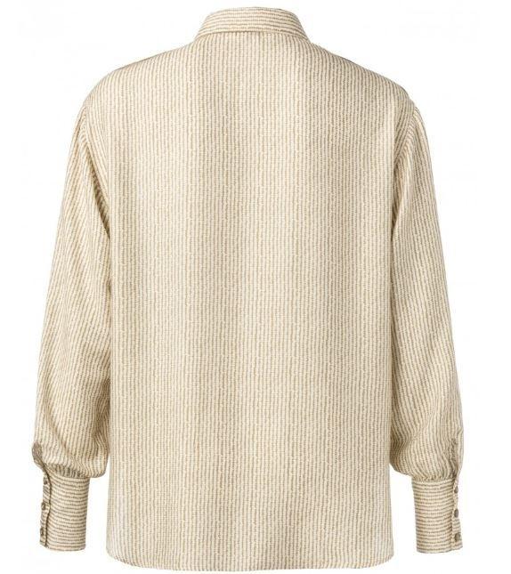 Silk blent shirt with large pockets