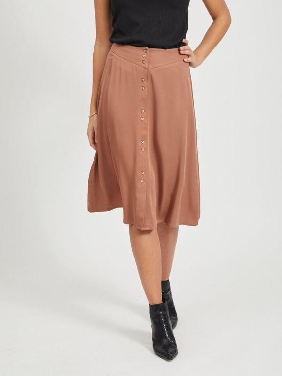 Vimorose Button Midi Skirt