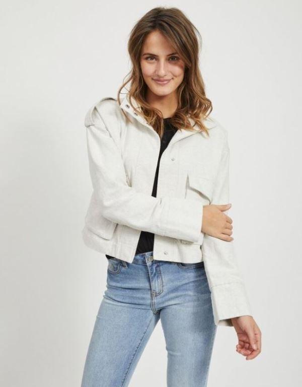 Vilinsa Short Linen Jacket