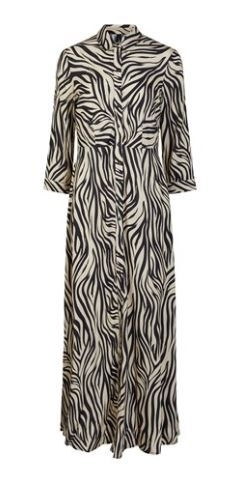 Yassavanna Zebra Long Shirt Dress