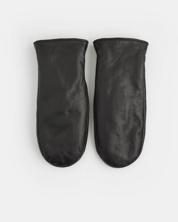 Clarina Leather Mittens
