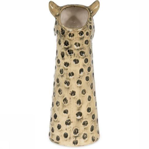 Leopard vase