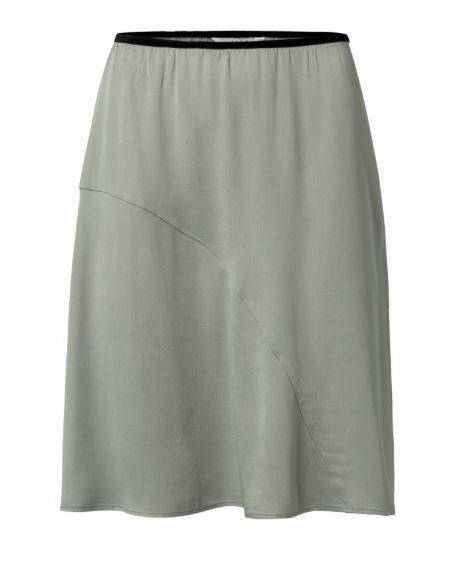 Satin A-line Skirt (knee)