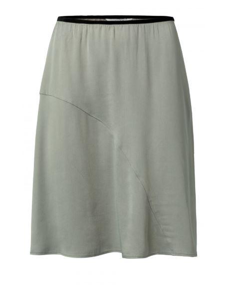 Satin A-line Skirt (knee)