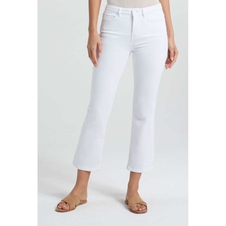 Mid Waist Jeans with Kick Flare