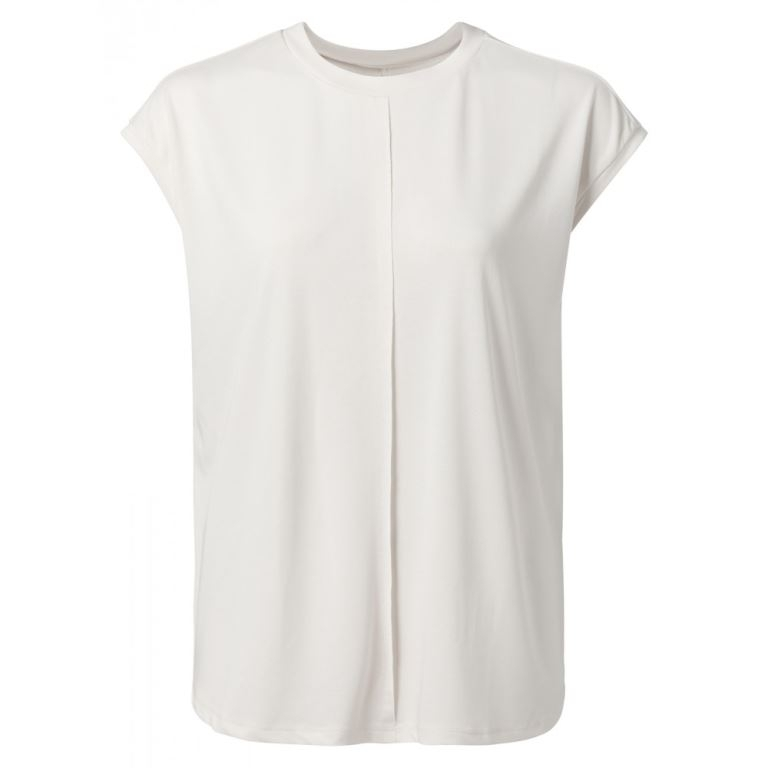 Modal lyocell top with cap sleeves and open back