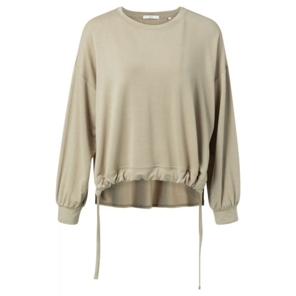 Jersey modal sweatshirt with drawstrings