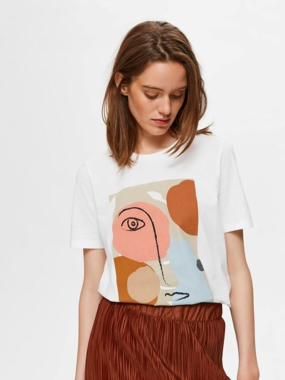 Abstract Face Tee