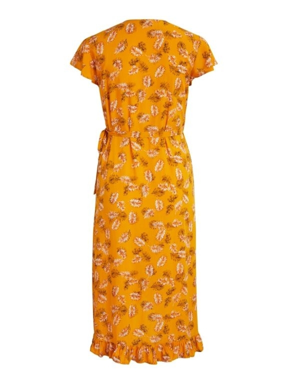 vimaskblini s/s midi wrap dress