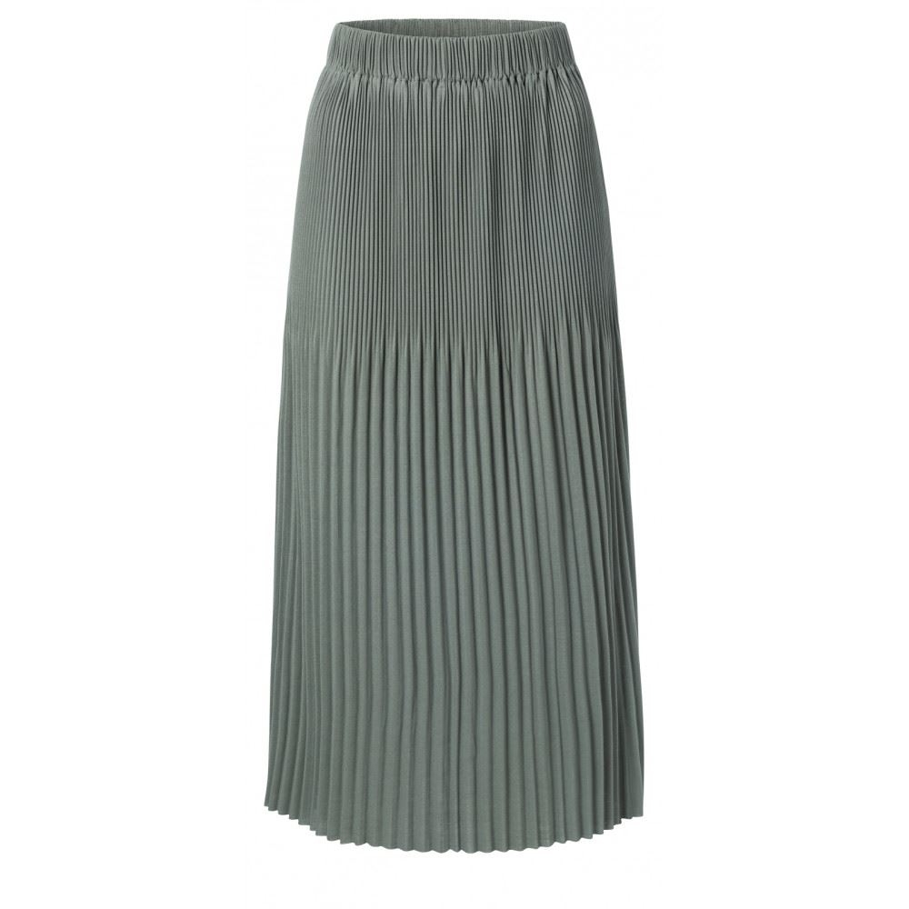 Jersey midi skirt with pleats