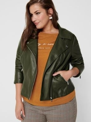 Caremmy Faux Leather Biker