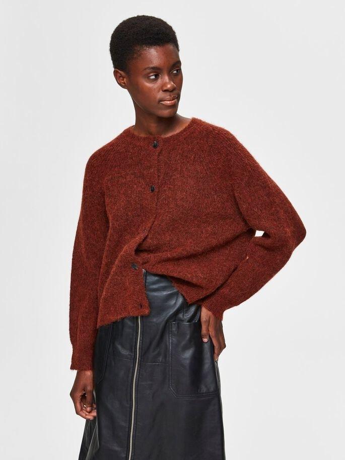 lulu knit short cardigan