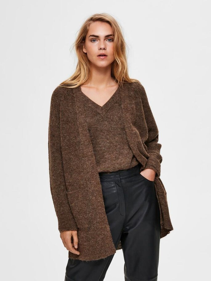 Lulu LS knit long cardigan